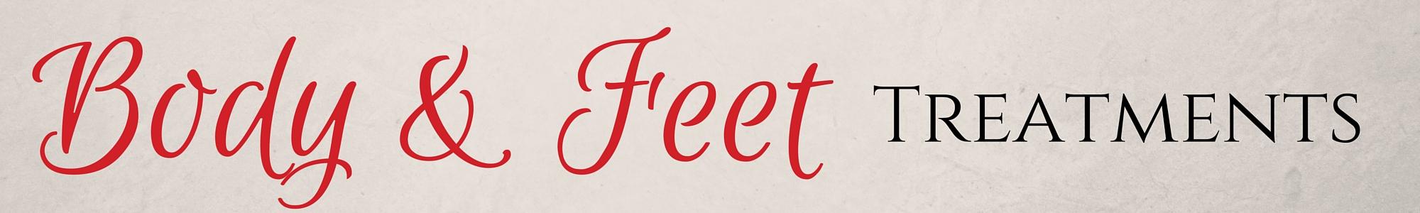 body treatments, foot treatments